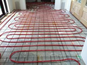 hydronic slab heating