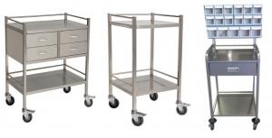 stainless steel hospital trolley